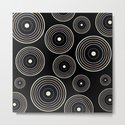 CONCENTRIC CIRCLES IN BLACK (abstract pattern) by absentisdesigns