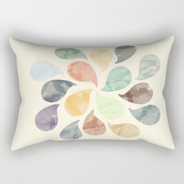 Colorful Water Drops (Watercolor version) Rectangular Pillow