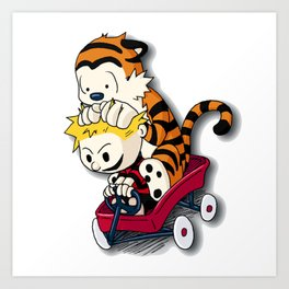 Calvin And Hobbes Good Times Art Print