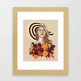 A flower between flowers // Del Rey with a bouquet Framed Art Print
