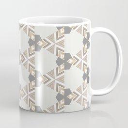 Neutral Grey Taupe Triange Pattern Design Coffee Mug