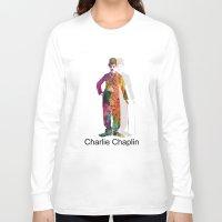charlie chaplin Long Sleeve T-shirts featuring charlie chaplin by mark ashkenazi