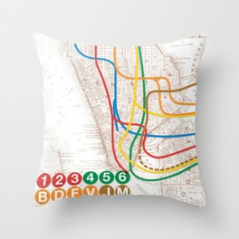 What the Future Awaits for New York I Throw Pillow