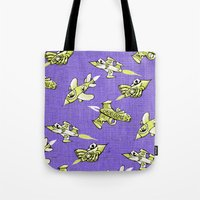 space jam Tote Bags featuring space jam by marella