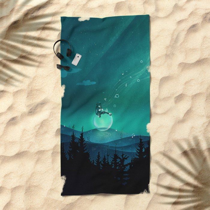 Comfortably Numb Beach Towel