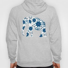 Elephant silhouette painted markers Hoody