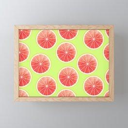 Pink Grapefruit Slices Pattern Framed Mini Art Print