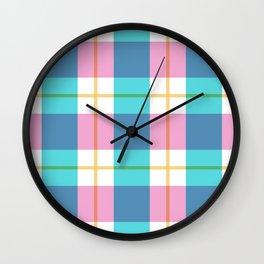 Summer Plaid Wall Clock