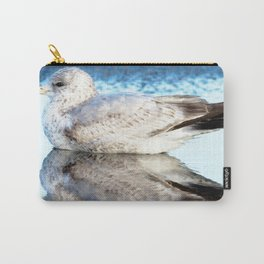 Watercolor Bird, Herring Gull 02, Nags Head, North Carolina, Mirrored Beauty Carry-All Pouch