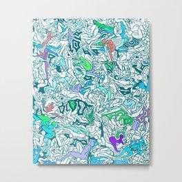 Kamasutra LOVE - Sea Blue Green Turquoise Min Metal Print