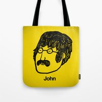 john snow Tote Bags featuring John. by Matheus Lopes