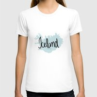 iceland T-shirts featuring Iceland love by Gabriela Fuente