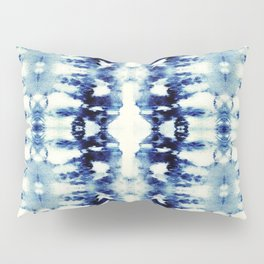 Tie Dye Blues Pillow Sham