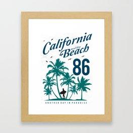 California Malibu Beach Framed Art Print