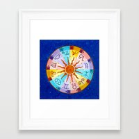 zodiac Framed Art Prints featuring Zodiac by Sandra Nascimento