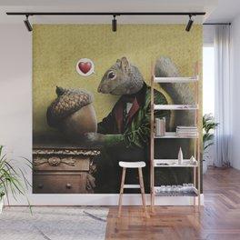 Mr. Squirrel Loves His Acorn! Wall Mural