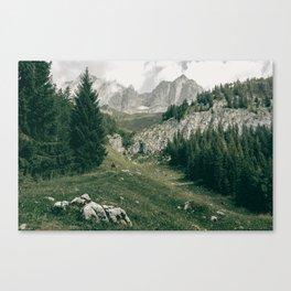 Peaceful Mountains | Landscape Photography Alps | Print Art Canvas Print