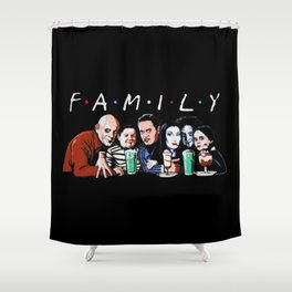 Emily Addams Family Friends Tv Show Halloween Shower Curtain