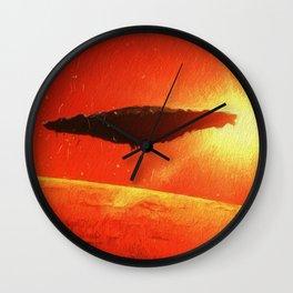 Martian Mothership Wall Clock