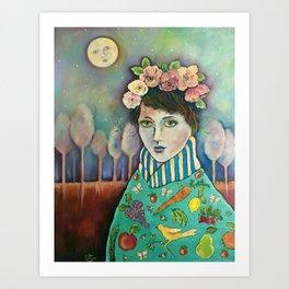 Organic Girl Art Print