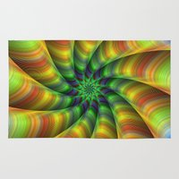 fractal Area & Throw Rugs featuring Fractal by David Zydd