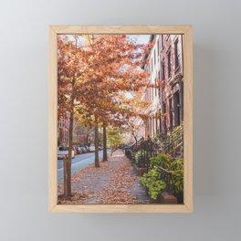 Autumn NYC Framed Mini Art Print