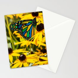 Surreal Monarch on Flowers Stationery Cards