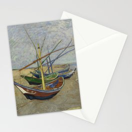 "Vincent Van Gogh ""Fishing boats on the Beach at Les Saintes-Maries-de-la-Mer"" Stationery Cards"