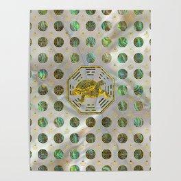 Golden Tortoise / Turtle Feng Shui Abalone Shell Poster