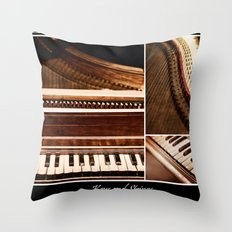 Keys and Strings Throw Pillow