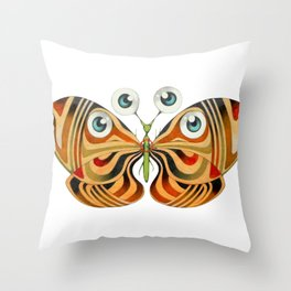 four eyes butterfly (ORIGINAL SOLD). Throw Pillow