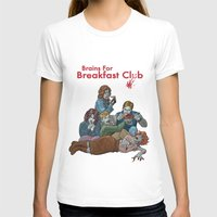 the breakfast club T-shirts featuring Brains for Breakfast Club (white) by Ayota Illustration