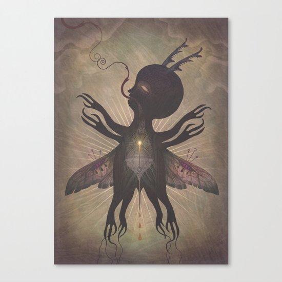 Flight of the Dusk Creature Canvas Print