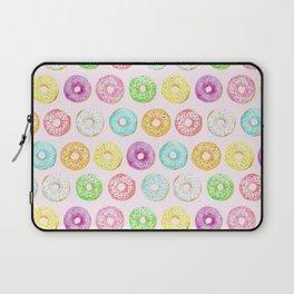 Watercolor pink sprinkle donuts Laptop Sleeve