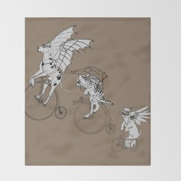 Steam Punk Pets Throw Blanket