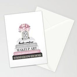Blush, Pink, Fashion books, Peony, Peonies, Pink and Gray, Gray, Books, Fashion books, Fashion Stationery Cards