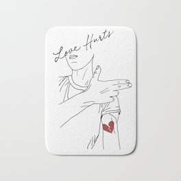 LOVE hurts Bath Mat