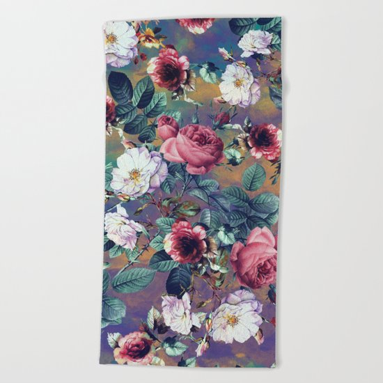 RPE Seamless Floral IV Beach Towel