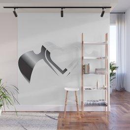 Gradient Heart Wings Wall Mural