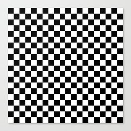 Black and White Checkerboard Pattern Canvas Print