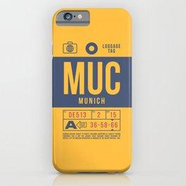 Baggage Tag B - MUC Munich Germany iPhone Case