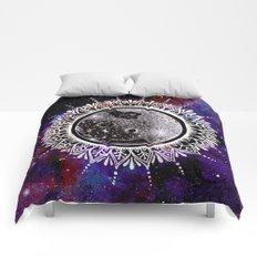 Galaxy Moon Mandala Comforters