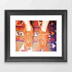 Moccasins Framed Art Print