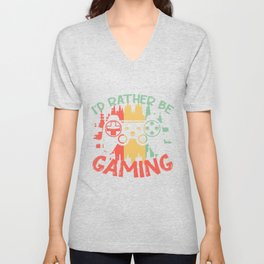 gamer video game play console PC Unisex V-Neck