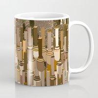 community Mugs featuring Fortified Community by Tony M Luib