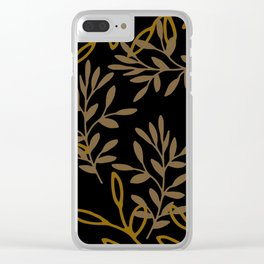 Leafy Brown Clear iPhone Case