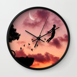 Once You Become Fearless Life Becomes Limitless. Wall Clock