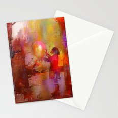 The girl with the baloon Stationery Cards