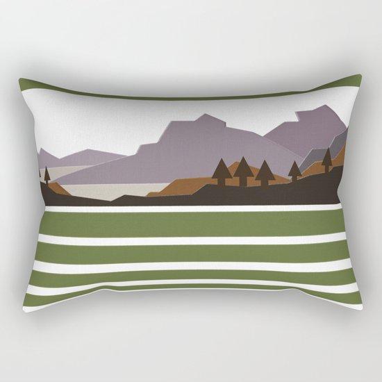 Rough Mountains Rectangular Pillow