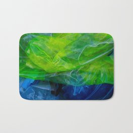 plastic yellow and blue Bath Mat